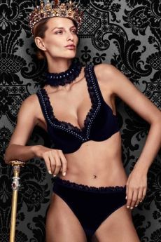 Queen Of Pearls Soutien-gorge Push-Up Black Pearl