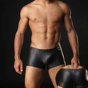 Boxer Business Black Leather Hom