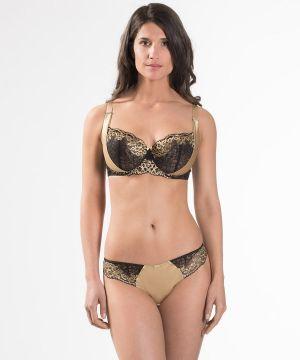 Femme-glamour-aubade-soutien-gorge-corbeille-confort-md1402-noir-or